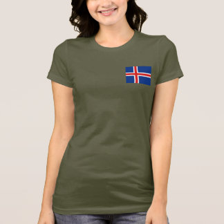 T-shirt du DK de drapeau et de carte de l'Islande