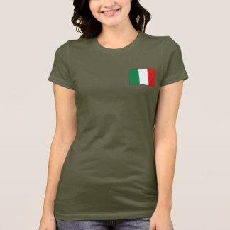 T-shirt du DK de drapeau et de carte de l'Italie