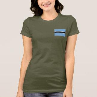 T-shirt du DK de drapeau et de carte du Botswana