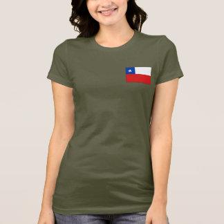 T-shirt du DK de drapeau et de carte du Chili