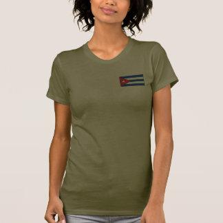 T-shirt du DK de drapeau et de carte du Cuba
