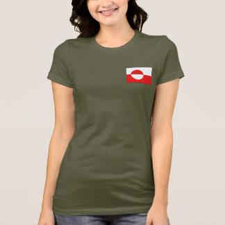 T-shirt du DK de drapeau et de carte du Groenland