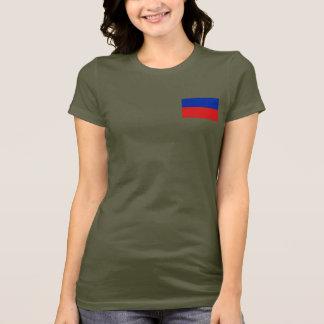 T-shirt du DK de drapeau et de carte du Haïti