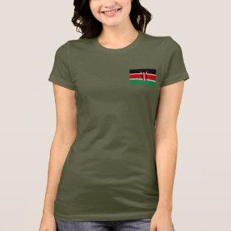 T-shirt du DK de drapeau et de carte du Kenya