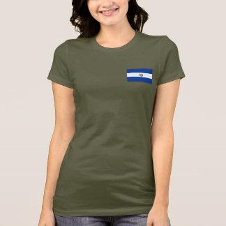 T-shirt du DK de drapeau et de carte du Salvador