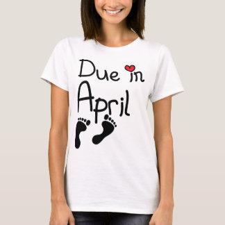 T-shirt Dû en avril