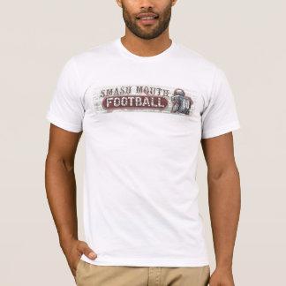 T-shirt du football de bouche de fracas