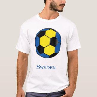 T-shirt du football de coupe du monde de la Suède