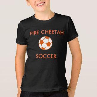 T-shirt du football de guépard du feu