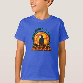 T-shirt du football de la jeunesse des dragons
