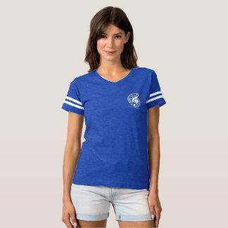 T-shirt du football des femmes avec le logo de