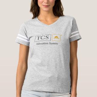 T-shirt du football des femmes de système