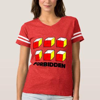 T-shirt du football des femmes interdites