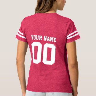 T-shirt du football des femmes nommées faites sur