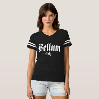 T-shirt du football du bellum des femmes
