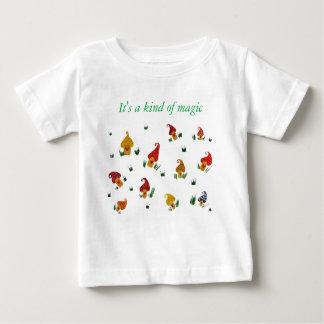 T-shirt du Jersey d'amende de bébé de champignons,