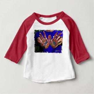 T-shirt du Jersey d'amende de bébé de HAMbyWG -