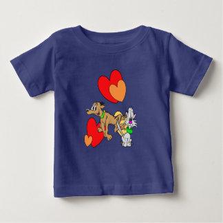 T-shirt du Jersey de bébé de bande dessinée de