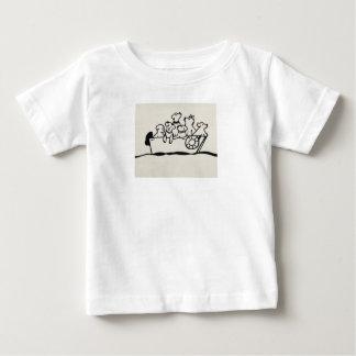 """T-shirt du Jersey de bébé de """"chiens et de"""