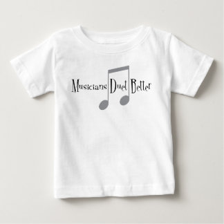 T-shirt du Jersey de bébé de duo (notes)