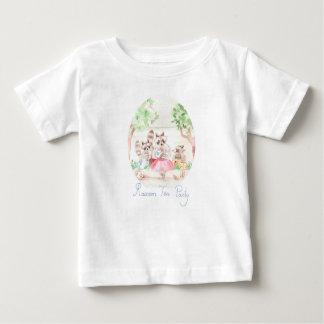 """T-shirt du Jersey de bébé """"de thé de raton laveur"""""""