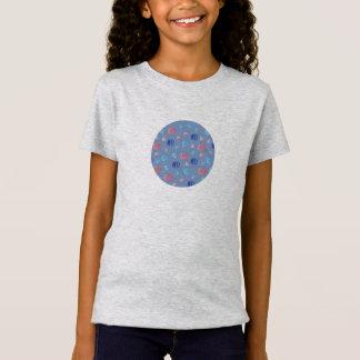 T-shirt du jersey des filles avec les lanternes
