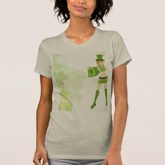 T-shirt du jour de St Patrick de fille d'achats