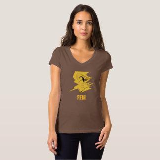 T-shirt du marché des changes #2 Brown de la femme