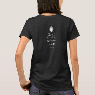 T-shirt du noir de W intérieur turbulent (de