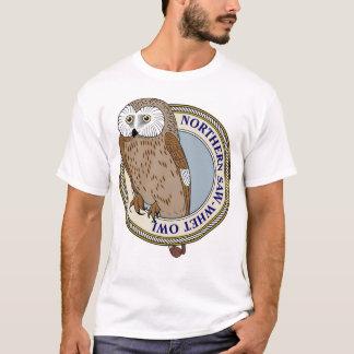 T-shirt Du nord Scie-Affûtez le Hibou-m