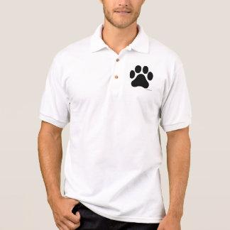 T-shirt du polo des hommes noirs et blancs