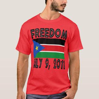 T-shirt du sud de drapeau de liberté du Soudan
