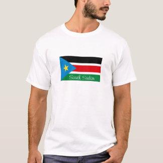 T-shirt du sud de souvenir de drapeau du Soudan