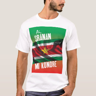 T-shirt du Surinam avec le texte
