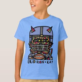 """T-shirt du TAGLESS® des enfants du """"gril KAT"""""""