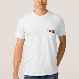 T-shirt du Thibet de drapeau du Thibet