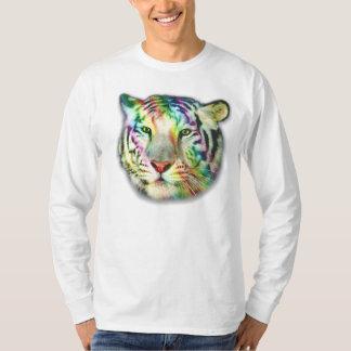 T-shirt du tigre L/S d'arc-en-ciel