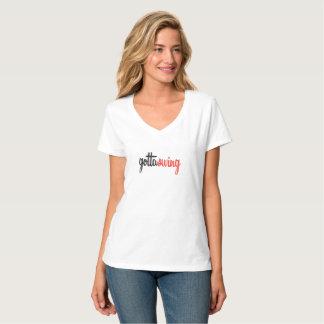 T-shirt du V-Cou des femmes