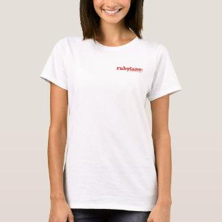 T-shirt du V-Cou des femmes de la ruelle rouge,