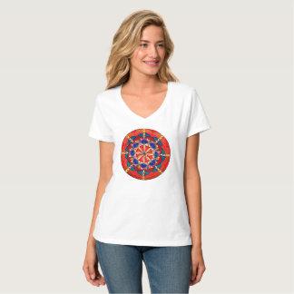 T-shirt du V-Cou des femmes faites sur commande