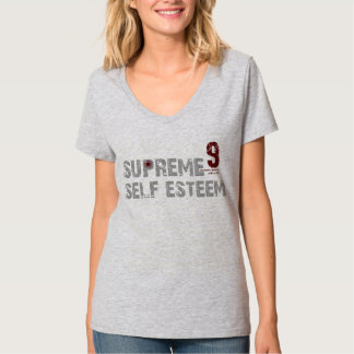 T-shirt du V-Cou des femmes suprêmes