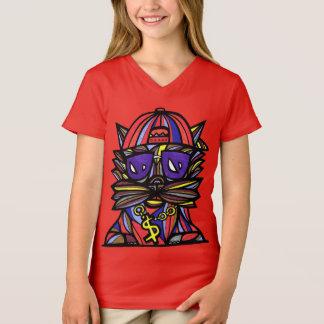 """T-shirt du V-Cou des filles """"d'évolution de"""