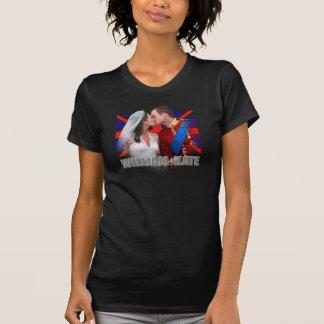 T-shirt Duc et duchesse de chemise de baiser de balcon de