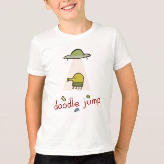 T-shirt d'UFO de saut de griffonnage