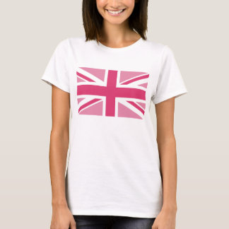 T-shirt ~ d'Union Jack dans des roses Girly