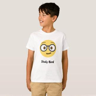 T-shirt dur d'Emoji TAGLESS® d'étude