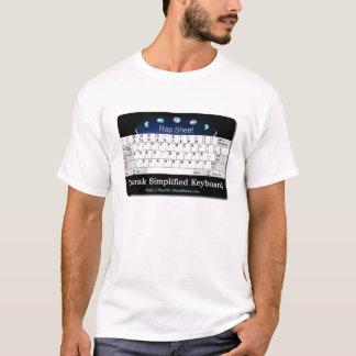 T-shirt Dvorak a simplifié le clavier