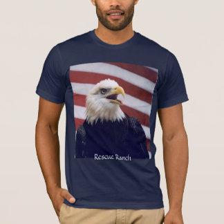 T-shirt Eagle et drapeau