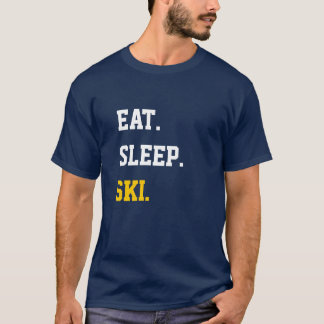 T-shirt Eat Sleep ski