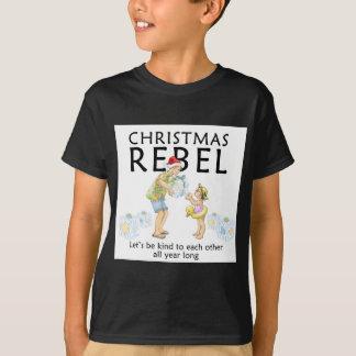 T-shirt Écartez l'esprit de rebelle de Noël !